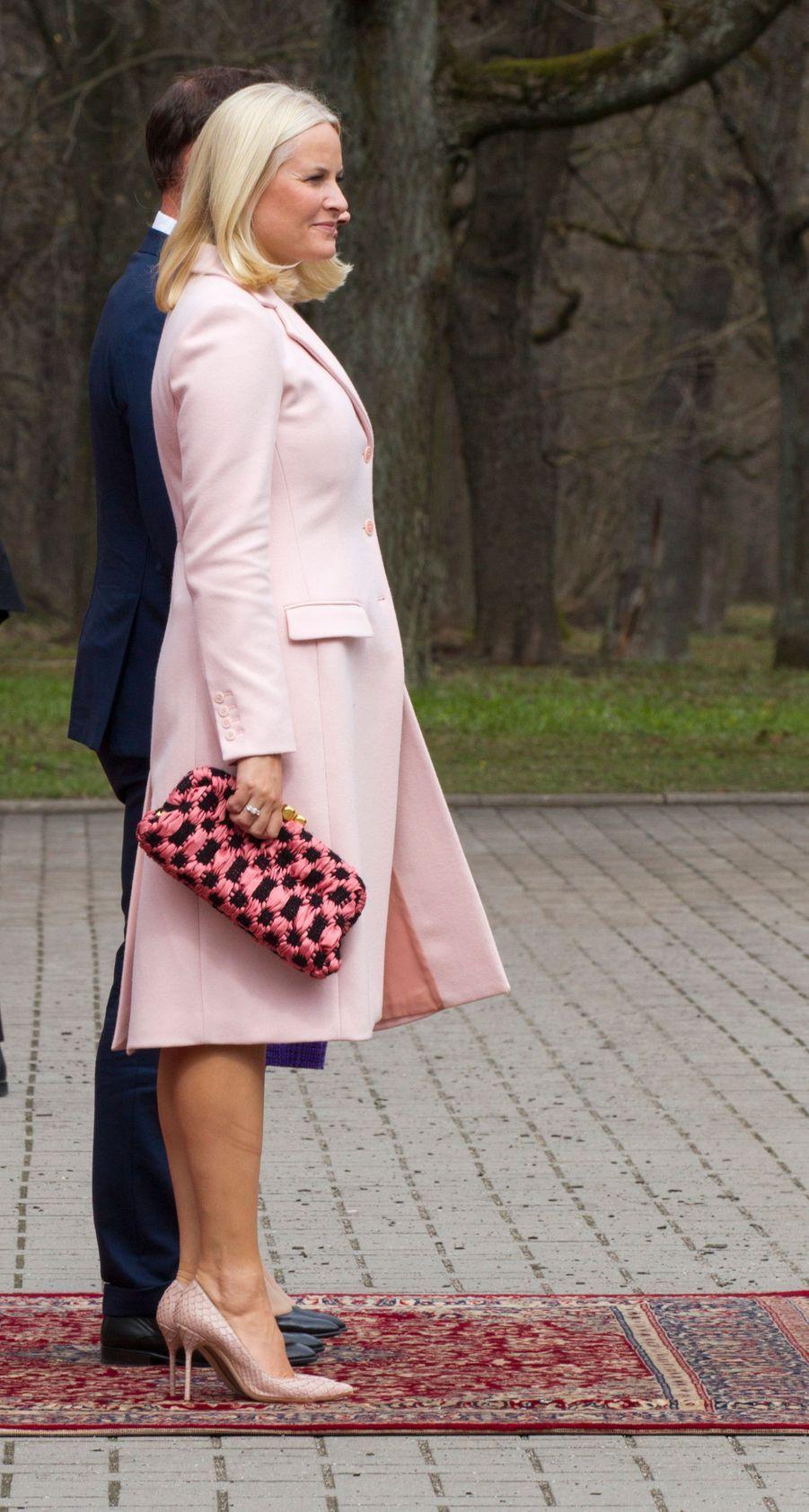 La princesse Mette-Marit de Norvège, le 25 avril 2018 à Tallinn