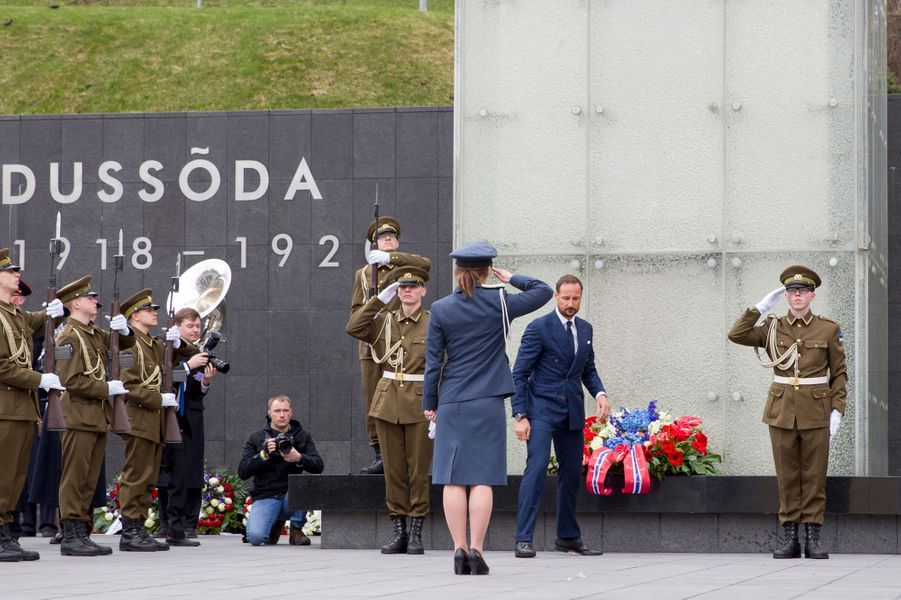 Le prince Haakon de Norvège à Tallinn, le 25 avril 2018