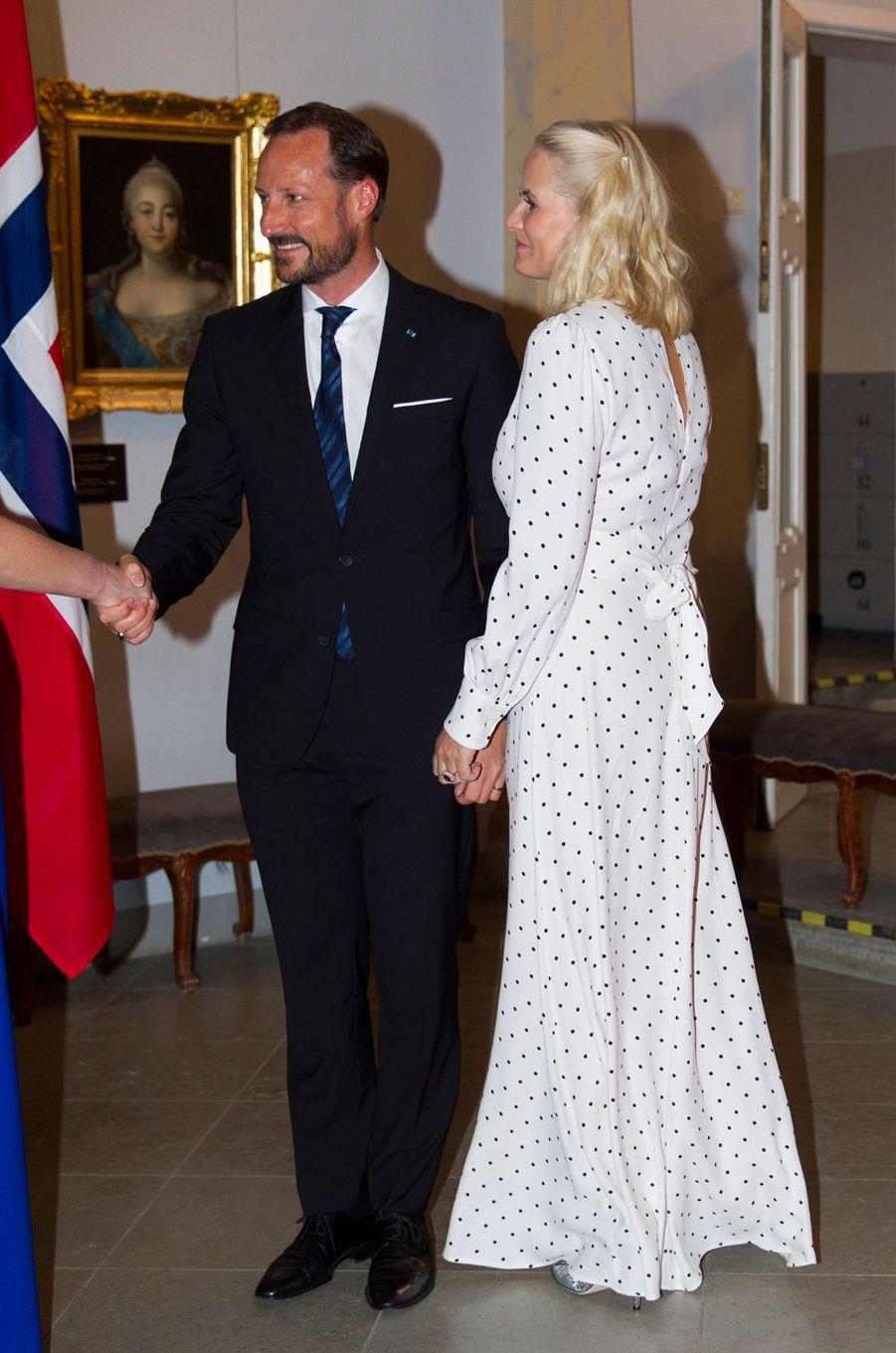 La princesse Mette-Marit et le prince Haakon de Norvège à Tallinn, le 25 avril 2018