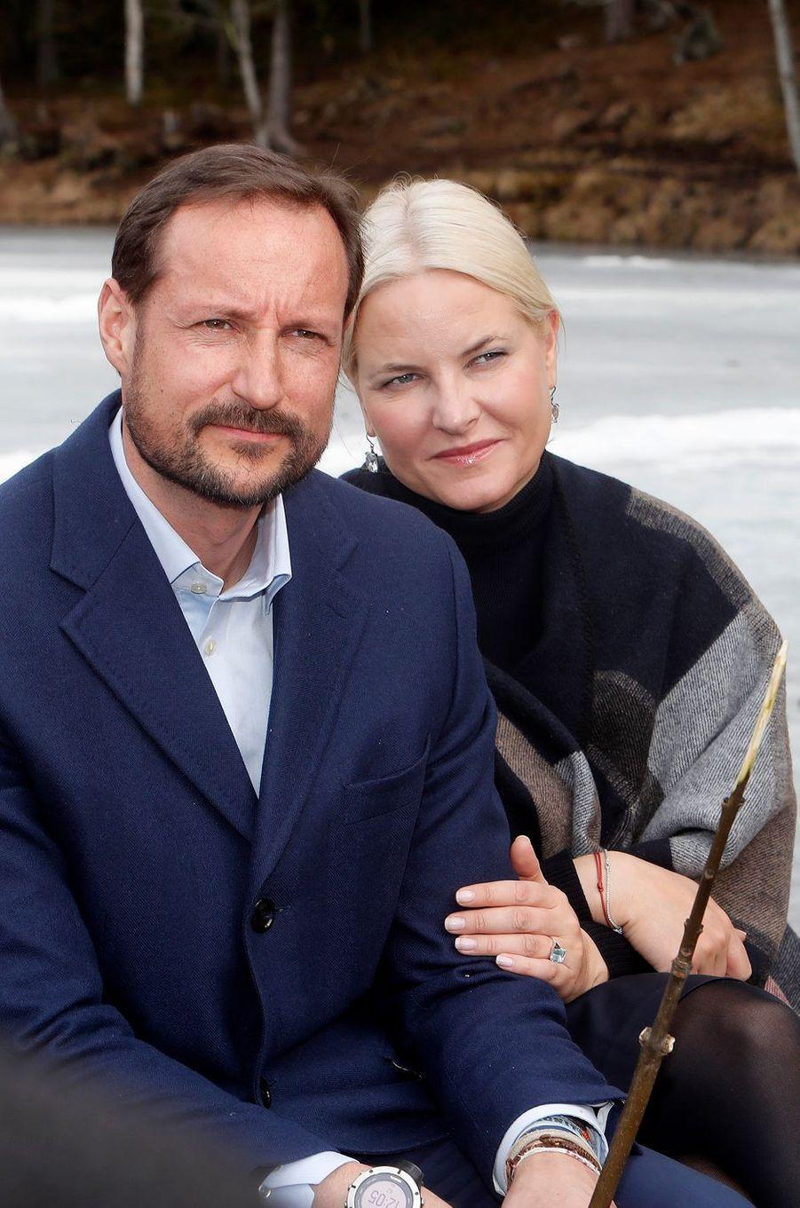 La princesse Mette-Marit et le prince Haakon de Norvège à Oslo, le 27 mars 2017
