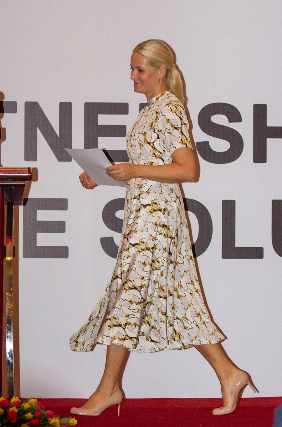 La princesse Mette-Marit de Norvège à Addis-Abeba, le 7 novembre 2017