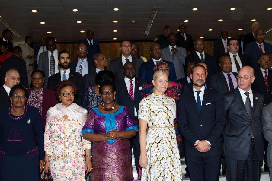 La princesse Mette-Marit et le prince Haakon de Norvège à Addis-Abeba, le 7 novembre 2017