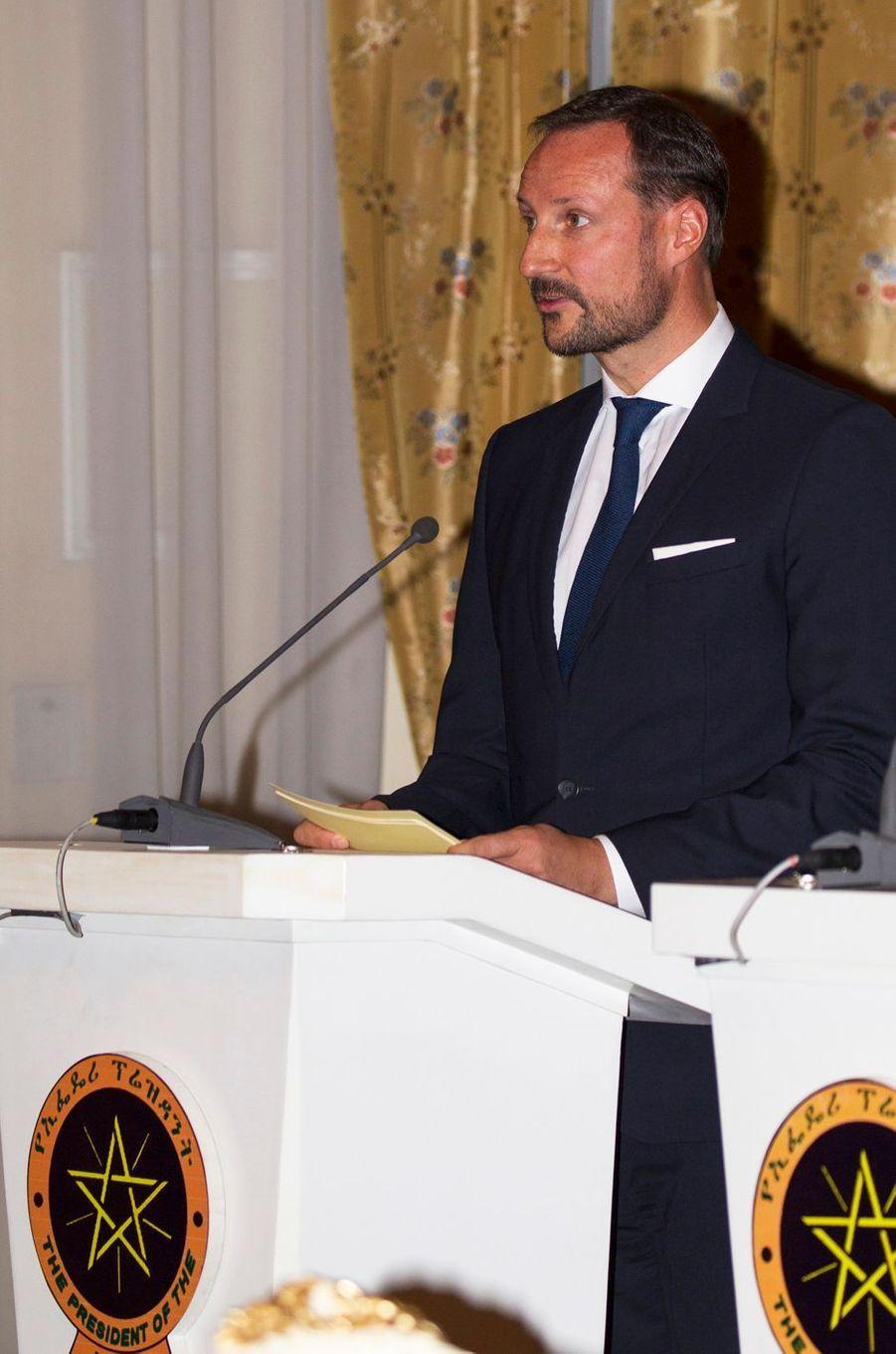 Le prince Haakon de Norvège à Addis-Abeba, le 7 novembre 2017