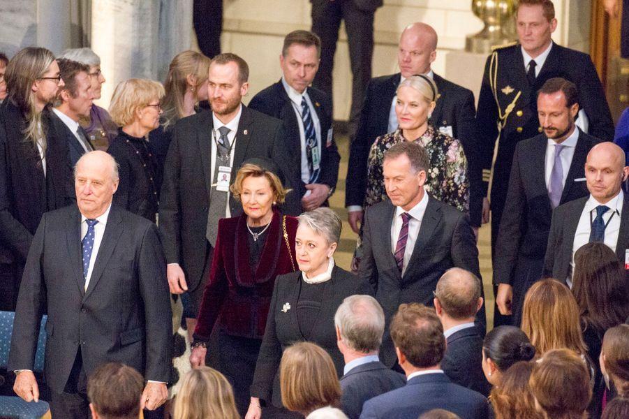 La famille royale de Norvège à Oslo, le 10 décembre 2017