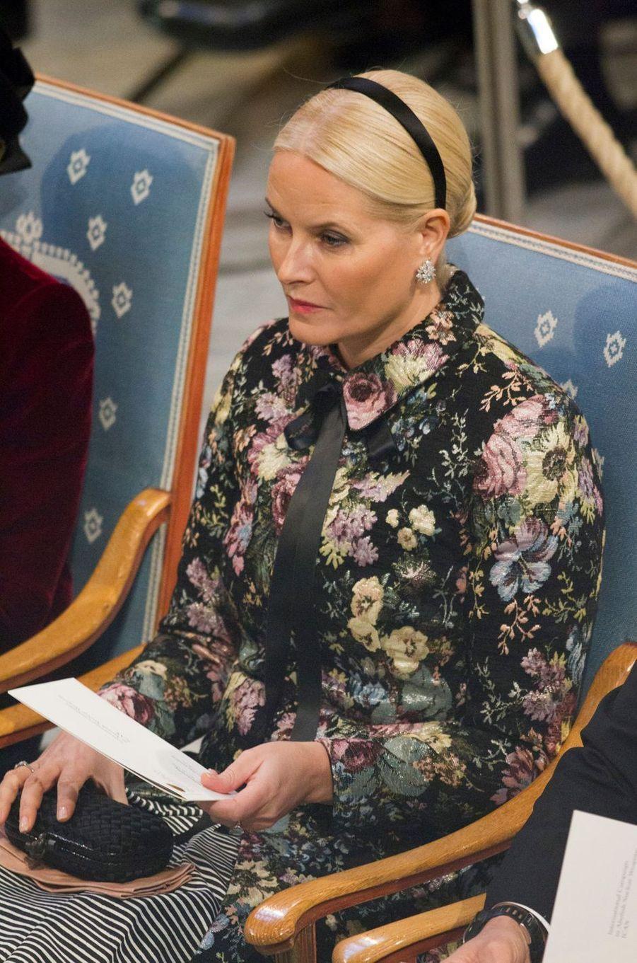 La princesse Mette-Marit de Norvège à Oslo, le 10 décembre 2017