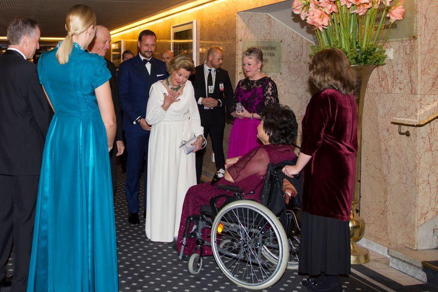 La reine Sonja de Norvège à Oslo, le 10 décembre 2017