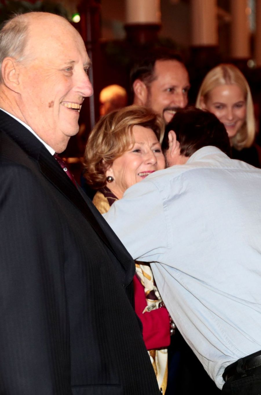Le roi Harald V, la reine Sonja, le prince Haakon et la princesse Mette-Marit de Norvège à Oslo, le 12 décembre 2017
