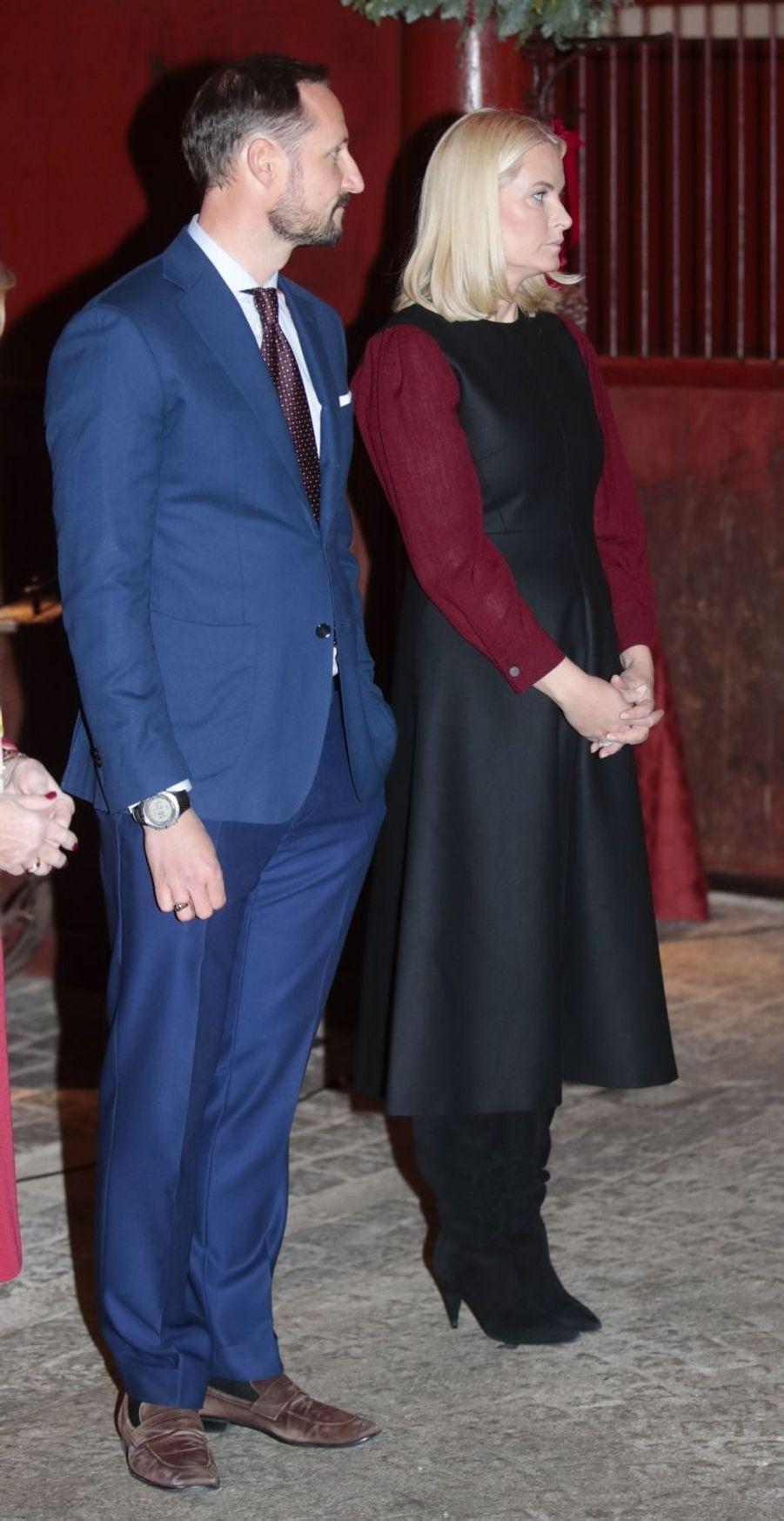 La princesse Mette-Marit et le prince Haakon de Norvège à Oslo, le 12 décembre 2017
