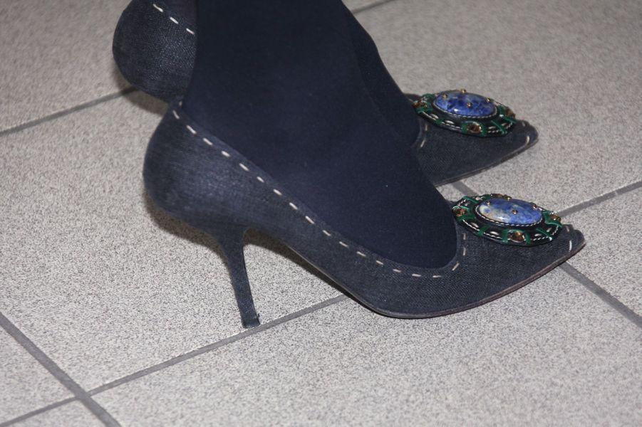 Les chaussures de la princesse Mette-Marit de Norvège à Oslo, le 1er mars 2016