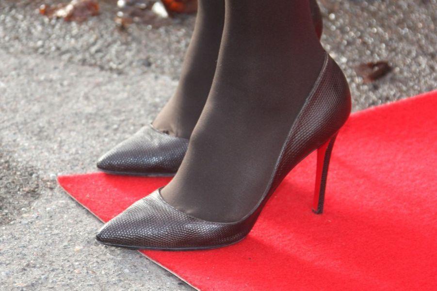 Les chaussures de la princesse Mette-Marit de Norvège à Oslo, le 8 mars 2016