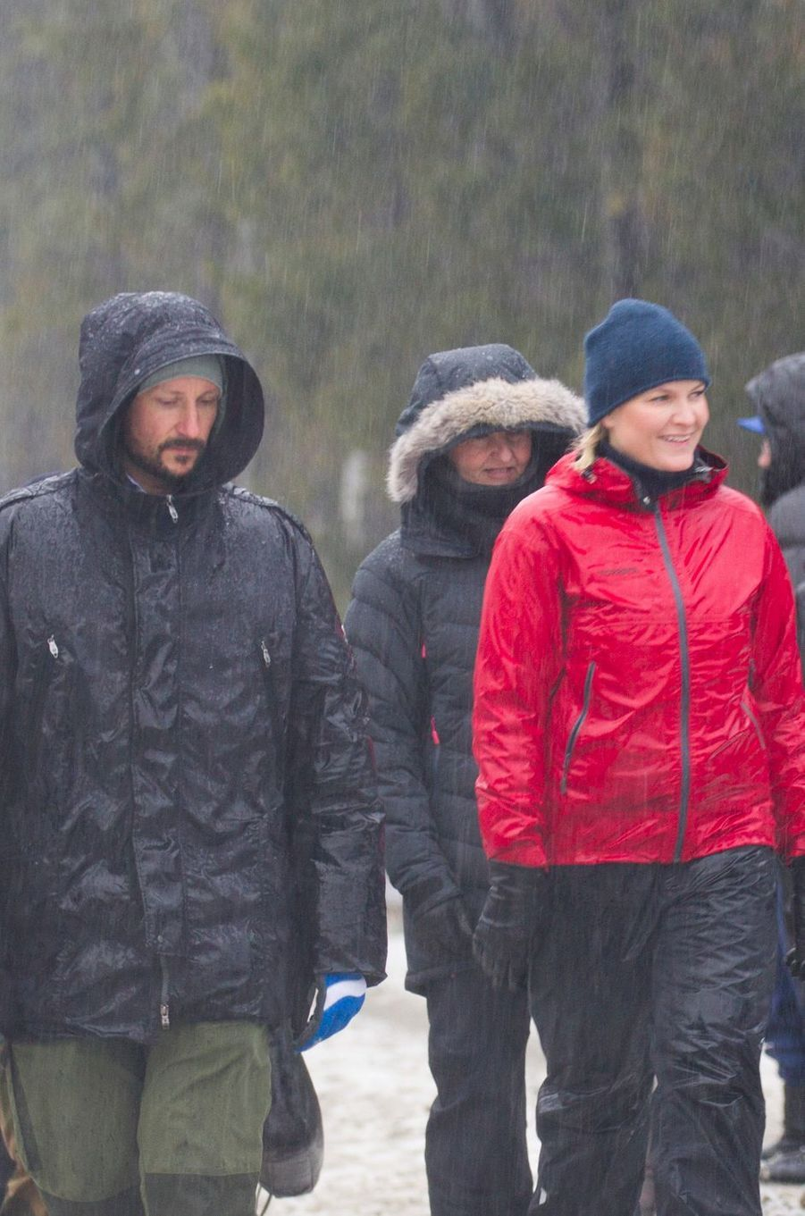 Le prince Haakon et la princesse Mette-Marit de Norvège à Ski, le 11 janvier 2017