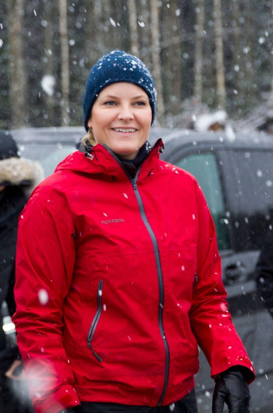 La princesse Mette-Marit de Norvège à Ski, le 11 janvier 2017