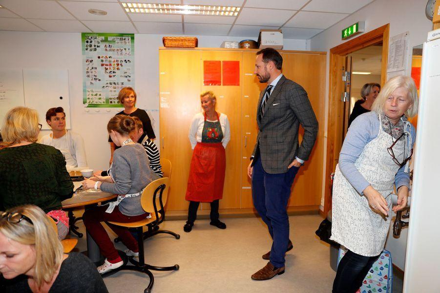 Le prince Haakon de Norvège à Baerum, le 14 décembre 2016