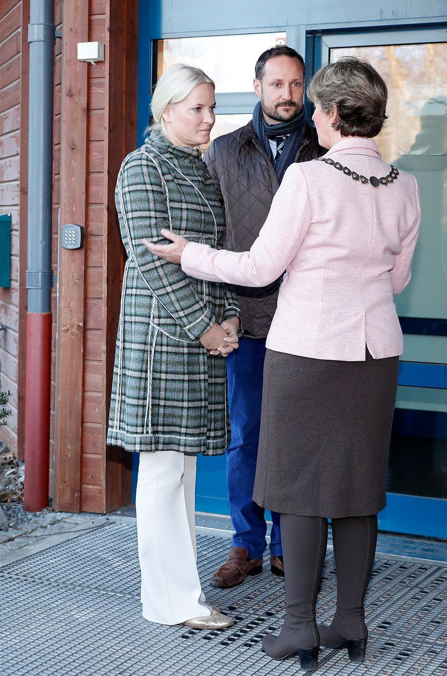 La princesse Mette-Marit et le prince Haakon de Norvège à Baerum, le 14 décembre 2016