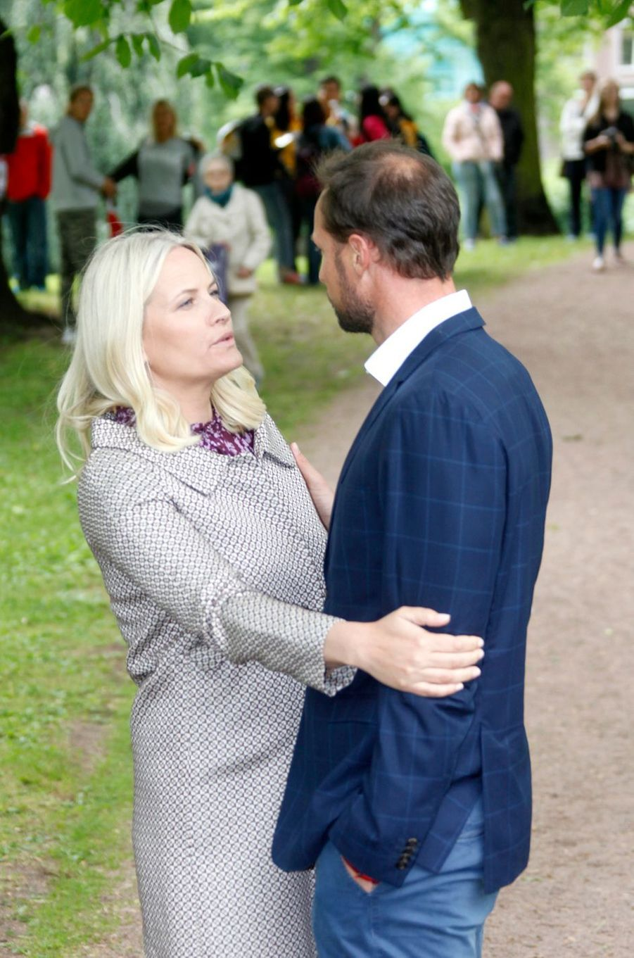 La princesse Mette-Marit et le prince Haakon de Norvège à Oslo, le 20 juin 2016