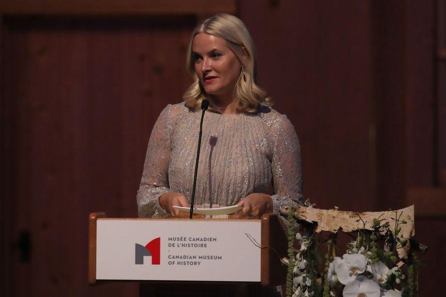 La princesse Mette-Marit de Norvège à Gatineau, le 8 novembre 2016