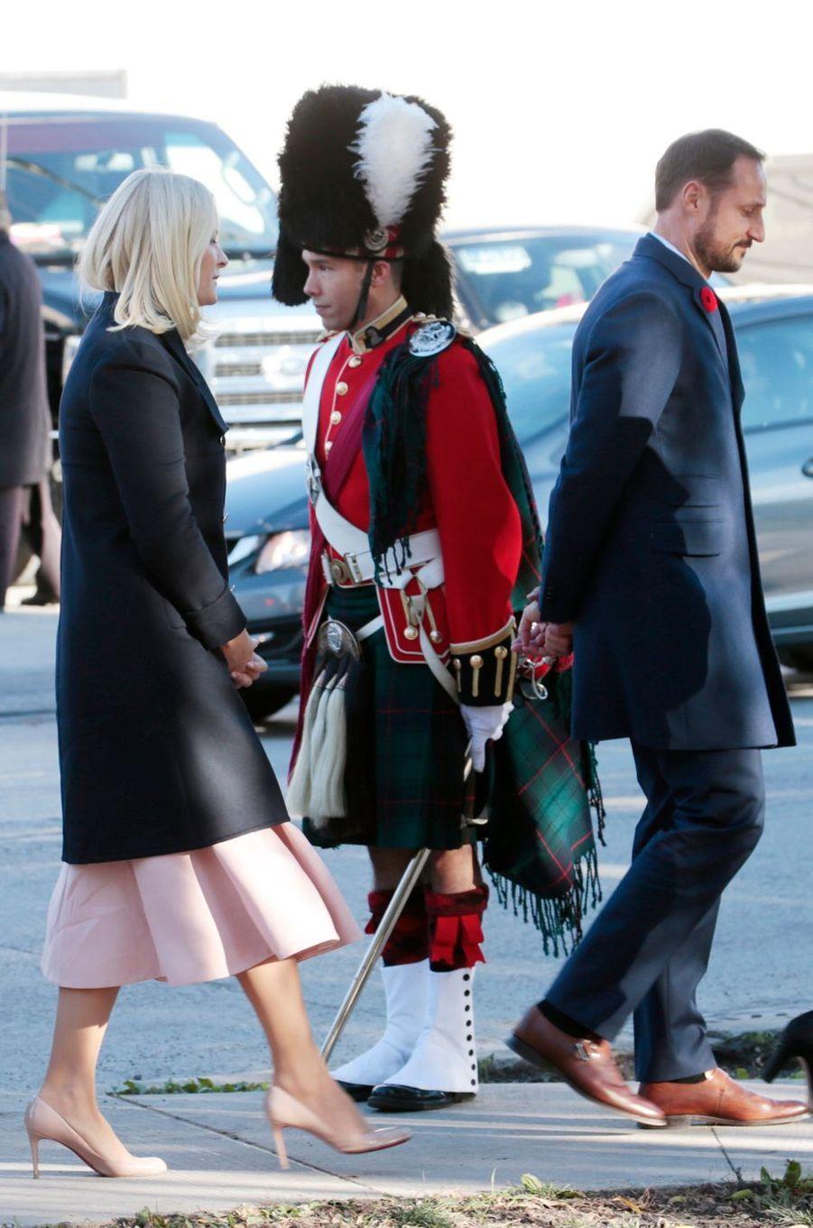 La princesse Mette-Marit et le prince Haakon de Norvège à Toronto, le 9 novembre 2016