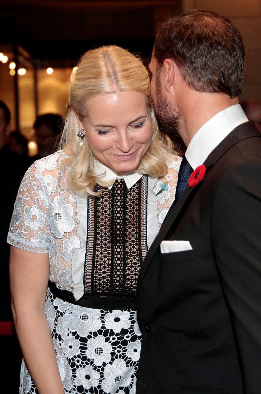 La princesse Mette-Marit et le prince Haakon de Norvège à St.John's, le 11 novembre 2016