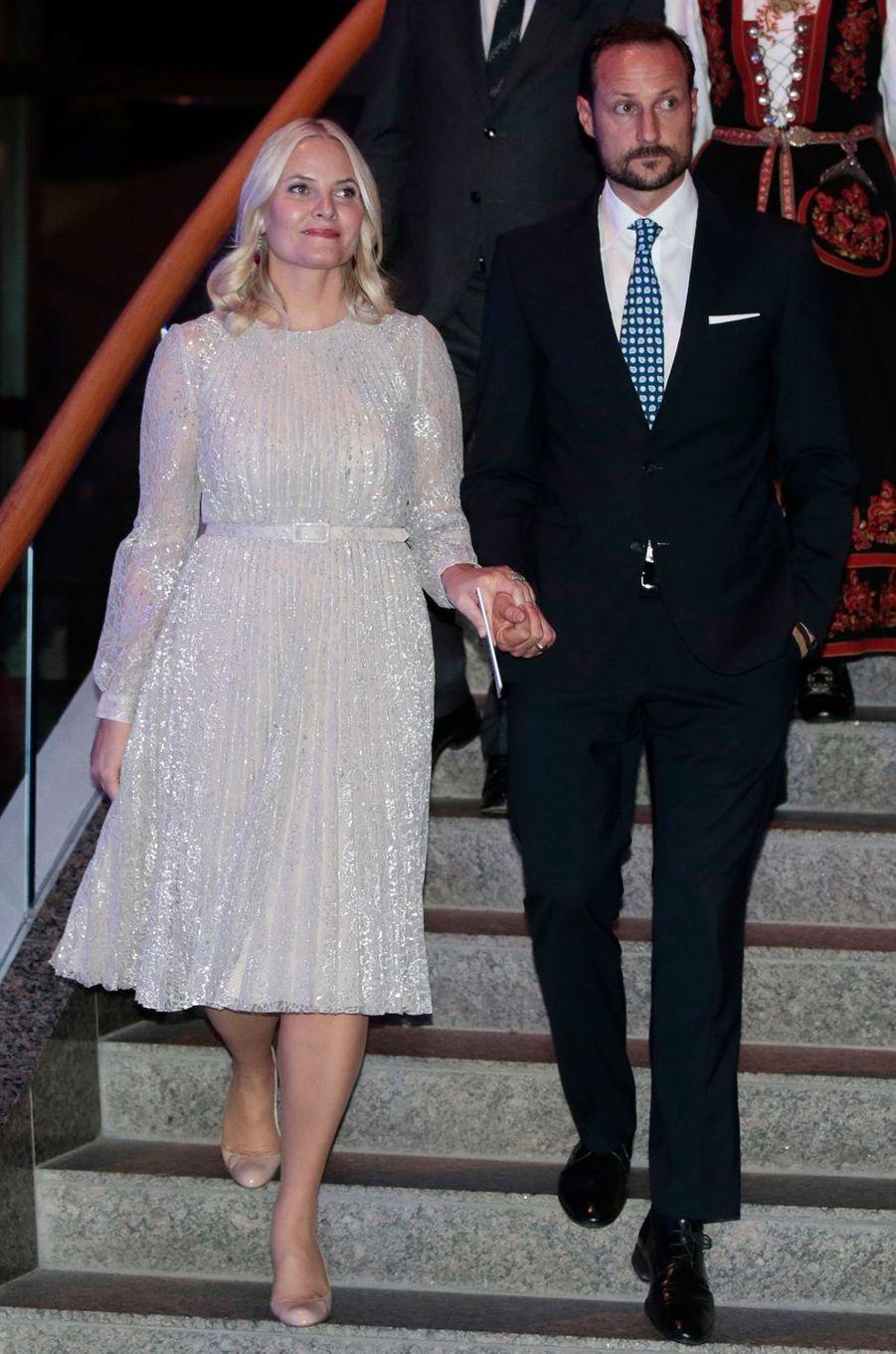 La princesse Mette-Marit et le prince Haakon de Norvège à Gatineau, le 8 novembre 2016