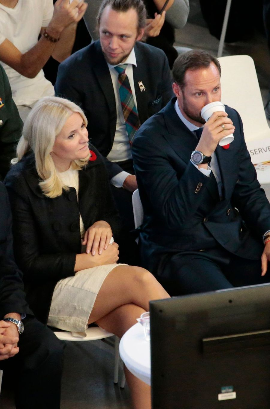 La princesse Mette-Marit et le prince Haakon de Norvège à Toronto, le 8 novembre 2016