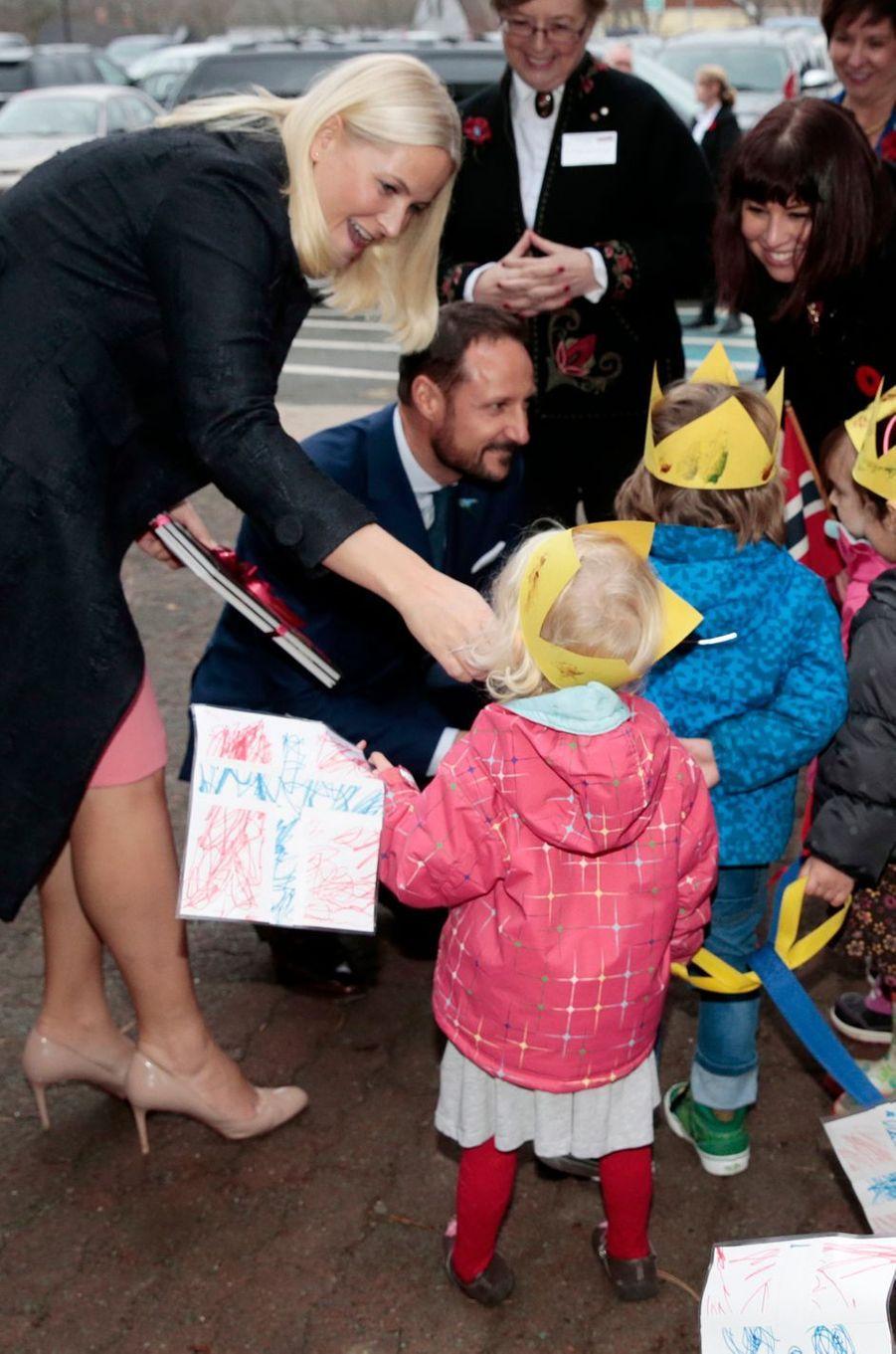 La princesse Mette-Marit et le prince Haakon de Norvège à St.John's, le 10 novembre 2016