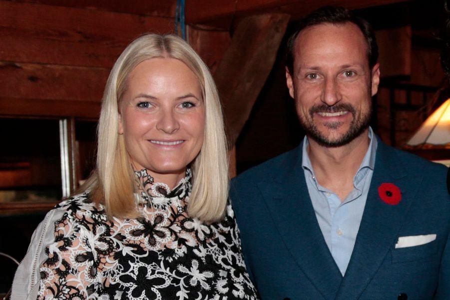 La princesse Mette-Marit et le prince Haakon de Norvège à Chelsea, le 7 novembre 2016