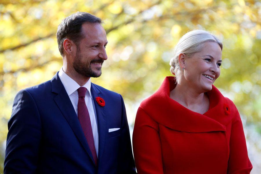 La princesse Mette-Marit et le prince Haakon de Norvège à Ottawa, le 7 novembre 2016