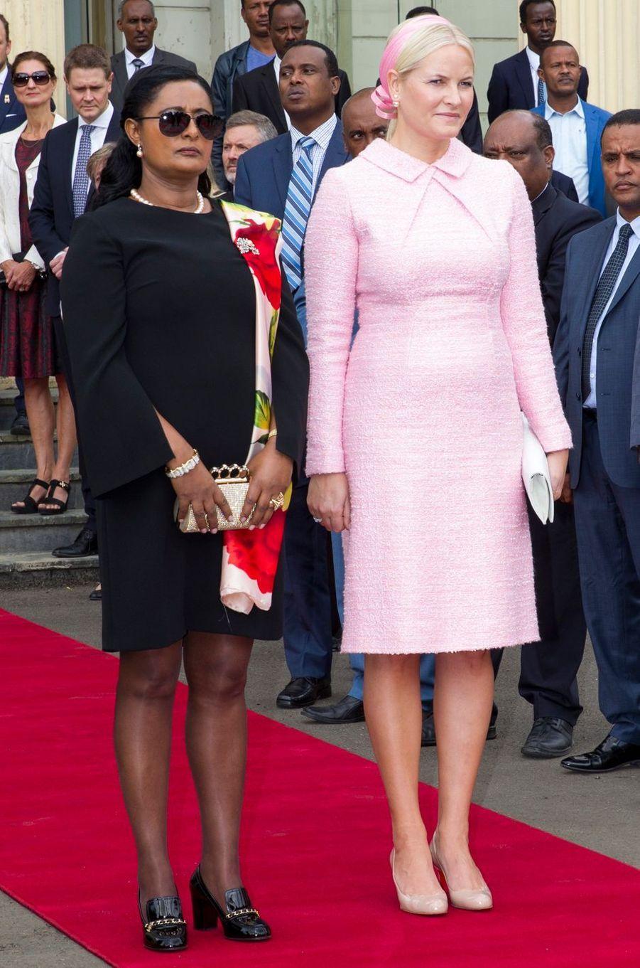 La princesse Mette-Marit de Norvège débute sa visite officielle en Ethiopie, le 7 novembre 2017