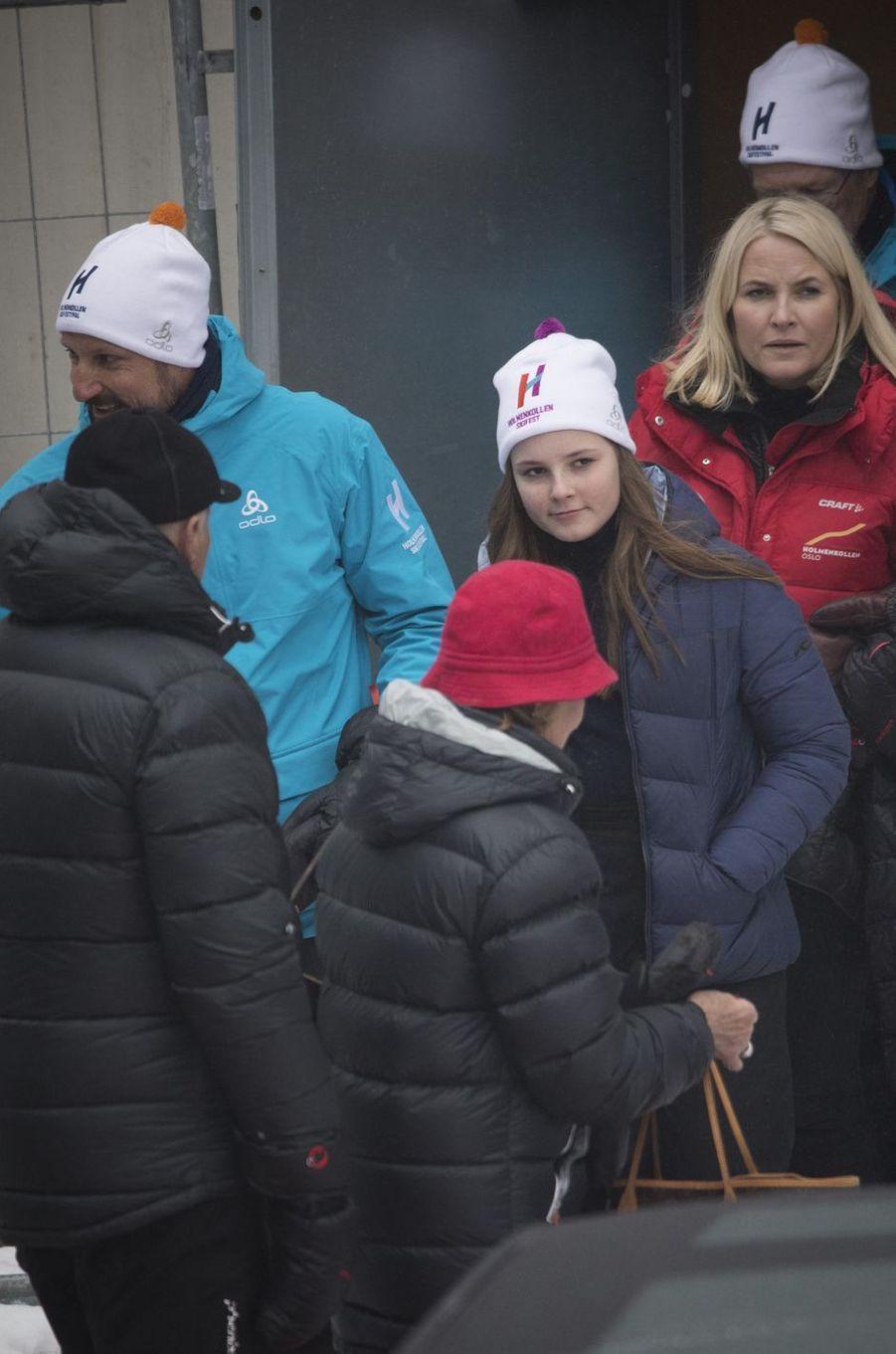 La famille royale de Norvège à Oslo, le 11 mars 2018