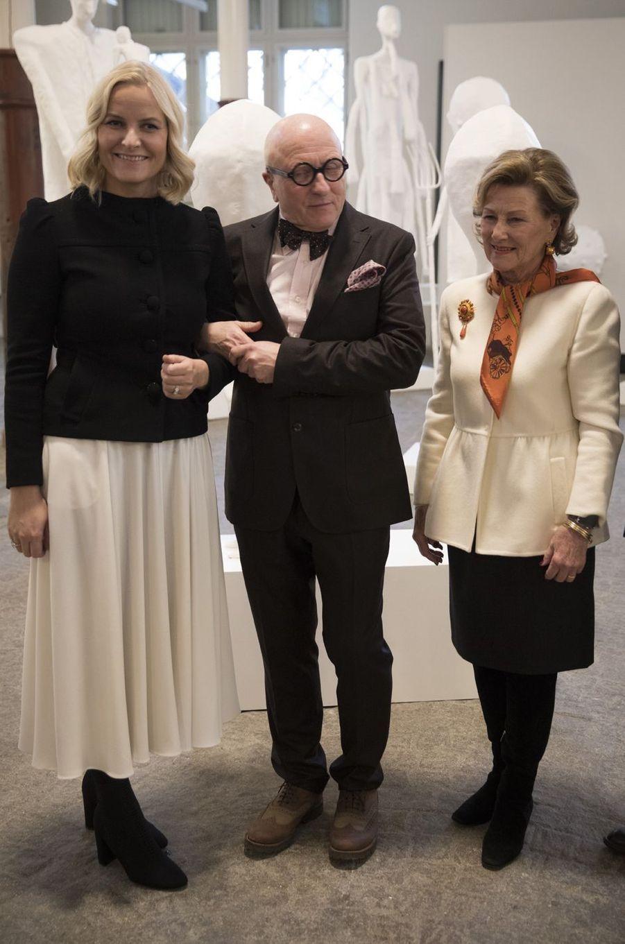La princesse Mette-Marit et la reine Sonja de Norvège à Oslo, le 13 mars 2018