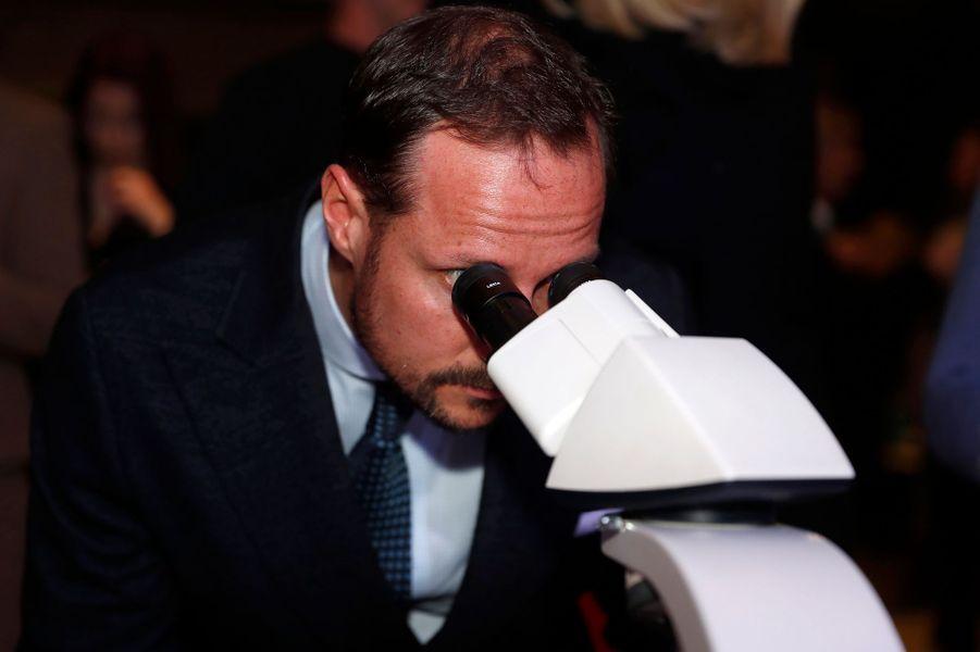 Le prince Haakon de Norvège à As, le 24 mars 2017