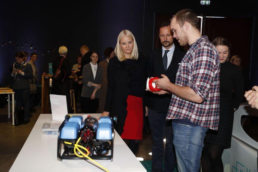 La princesse Mette-Marit et le prince Haakon de Norvège à As, le 24 mars 2017