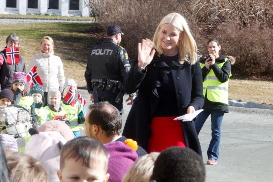 La princesse Mette-Marit de Norvège à As, le 24 mars 2017