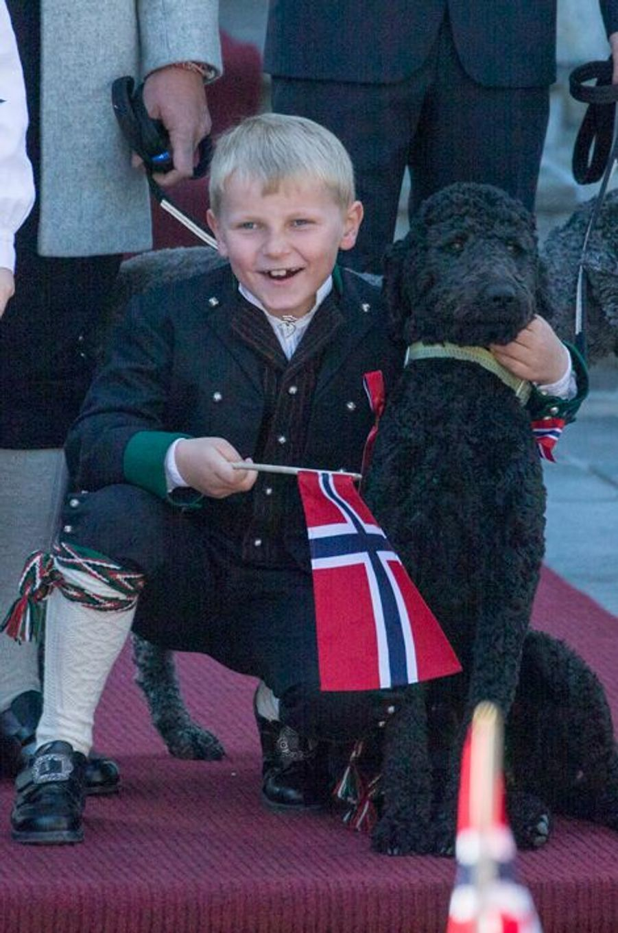 Le prince Sverre Magnus de Norvège, le 17 mai 2014