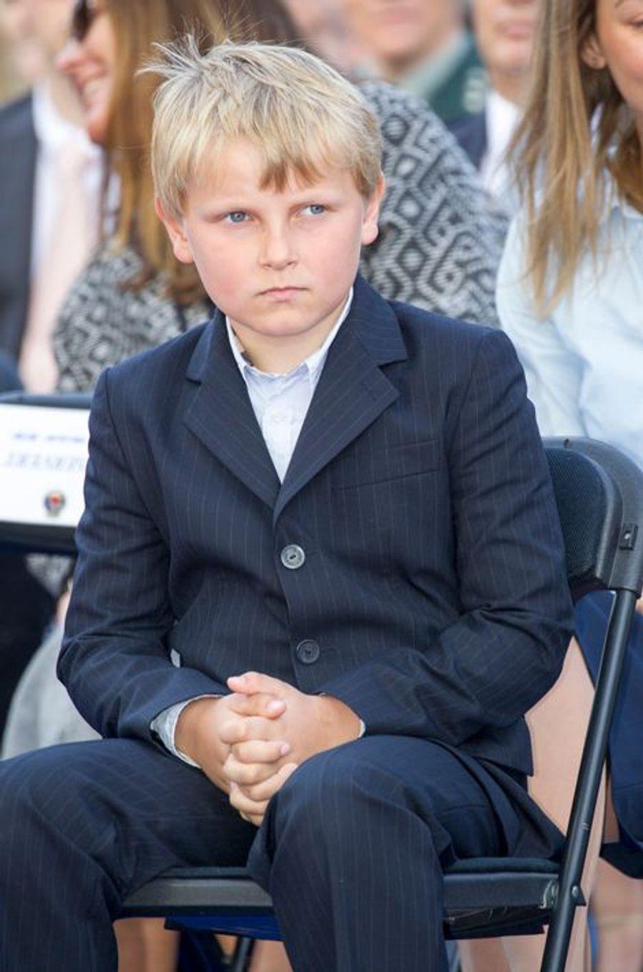 Le prince Sverre Magnus de Norvège, le 7 juin 2015