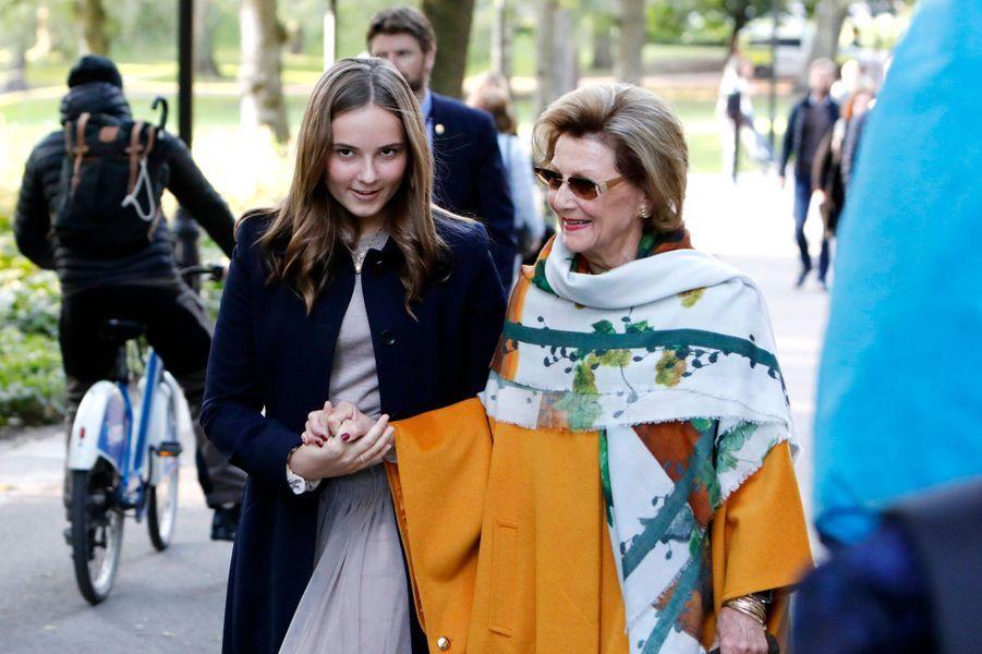 La princesse Ingrid Alexandra et la reine Sonja de Norvège à Oslo, le 17 septembre 2019