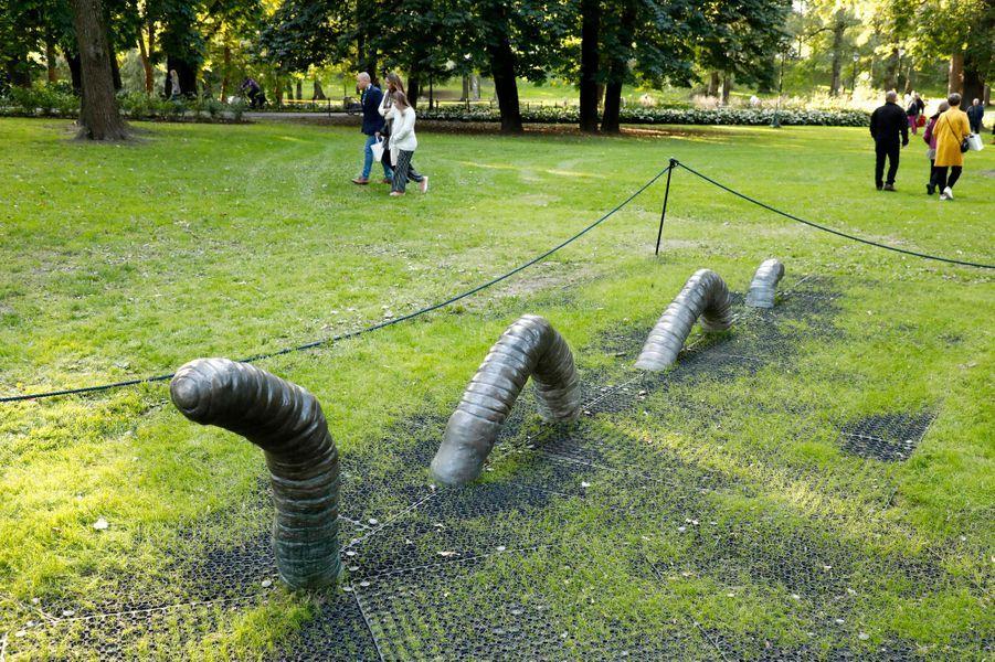 Le parc de sculptures de la princesse Ingrid Alexandra de Norvège à Oslo, le 17 septembre 2019