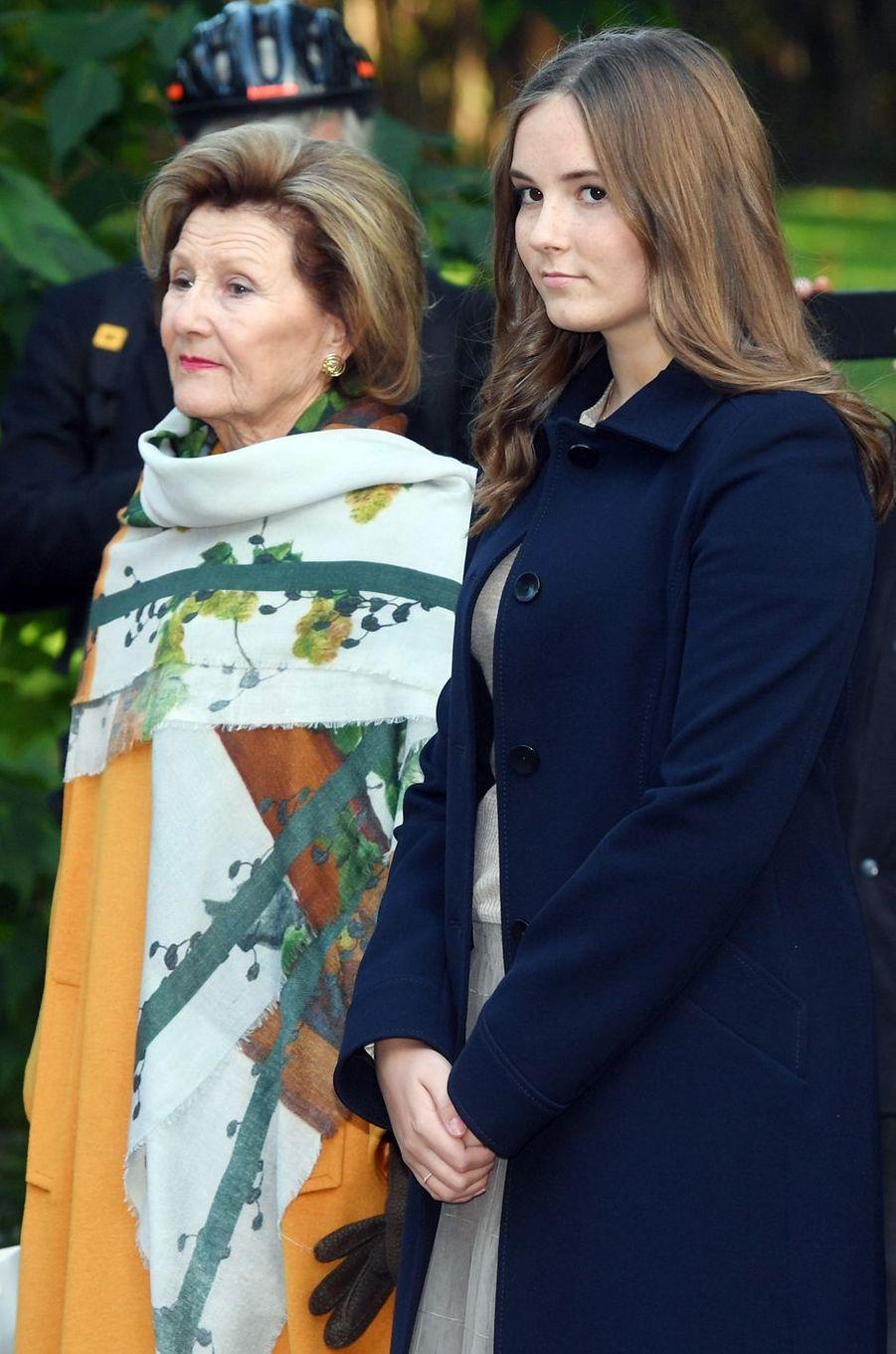 La reine Sonja et la princesse Ingrid Alexandra de Norvège à Oslo, le 17 septembre 2019