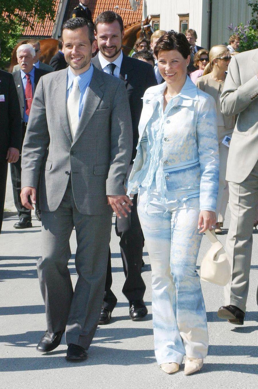 La princesse Märtha Louise de Norvège et Ari Behn, le 23 mai 2002