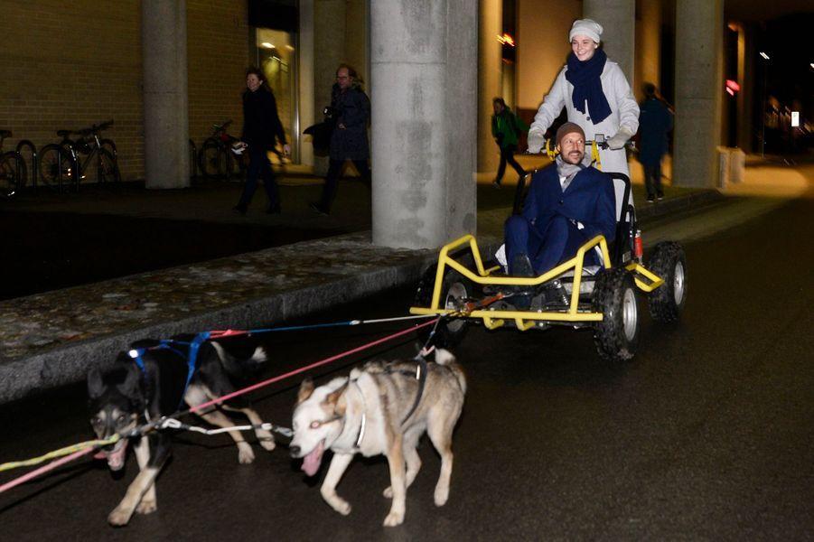 La princesse Ingrid Alexandra et le prince Haakon de Norvège à Tromso, le 17 novembre 2018