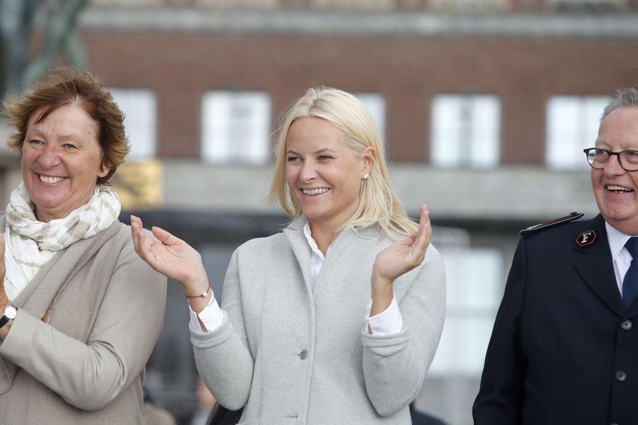 La princesse Mette-Marit de Norvège à Oslo, le 29 août 2017