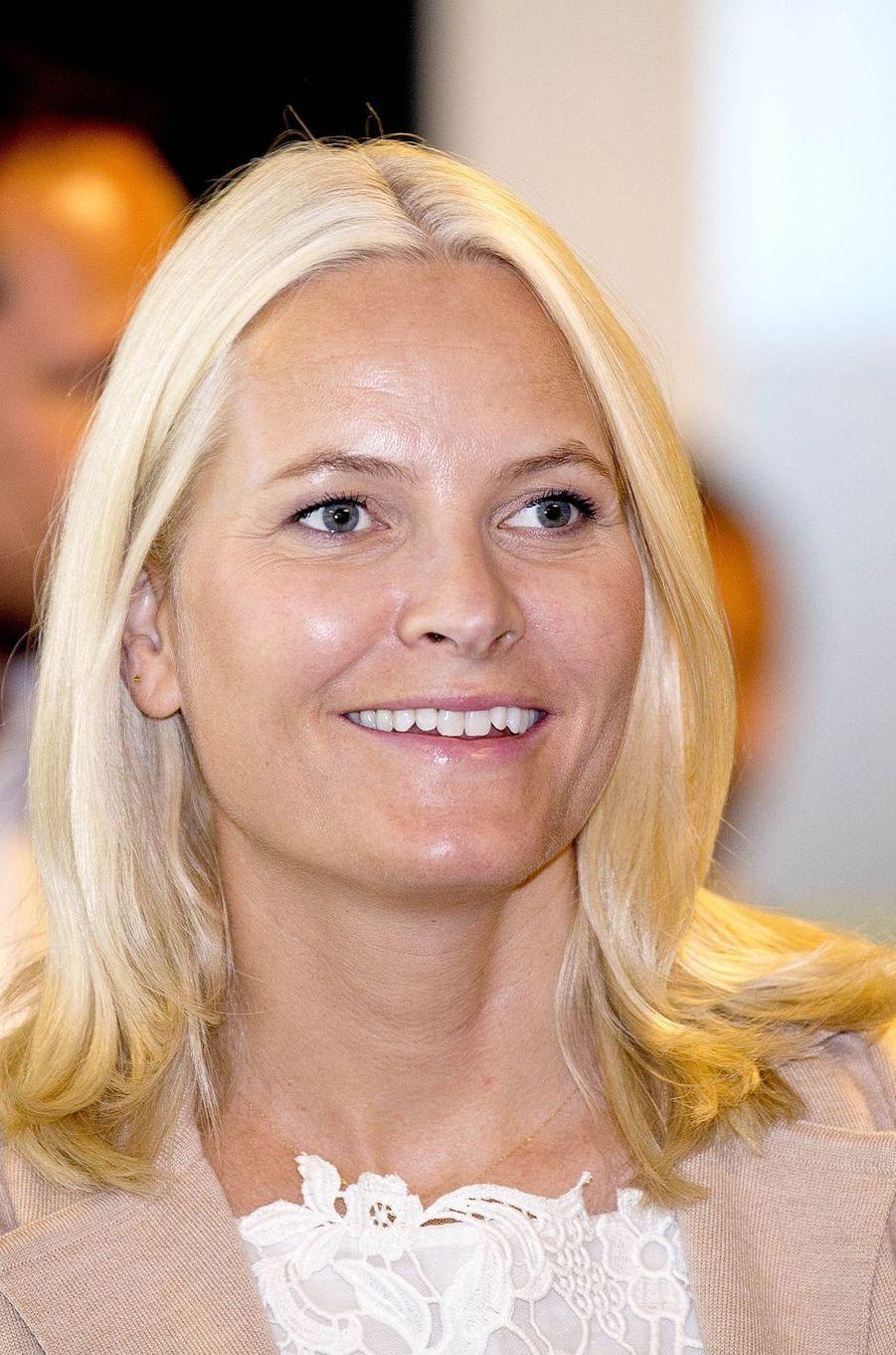 La princesse Mette-Marit de Norvège à Halden, le 29 août 2017