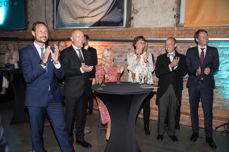 La princesse Mette-Marit et le prince Haakon de Norvège à Oslo, le 31 août 2017