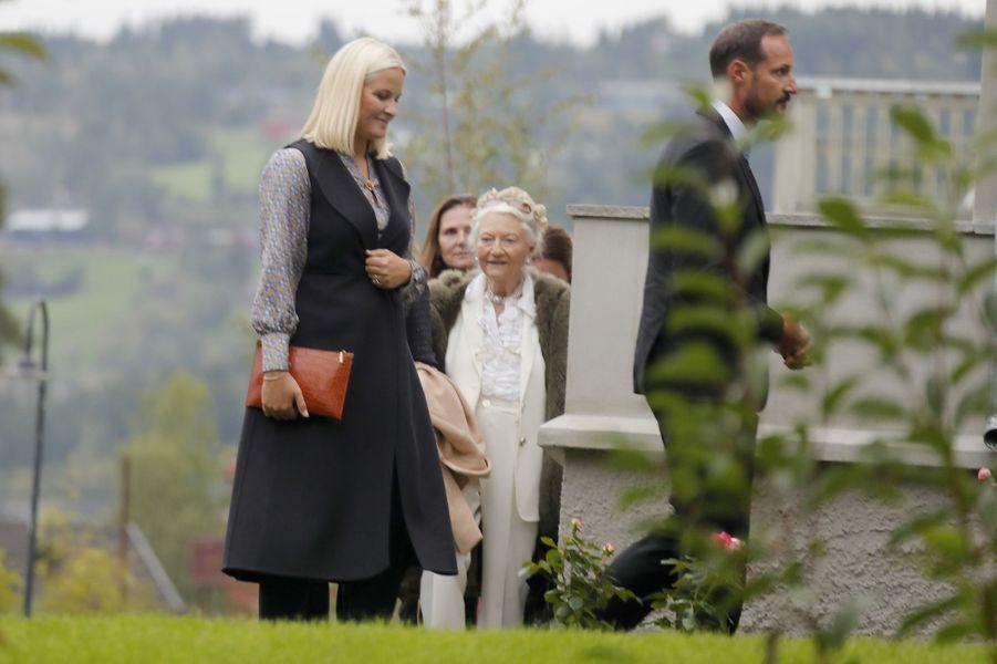 La princesse Mette-Marit et le prince Haakon de Norvège à Lillehammer, le 27 août 2018