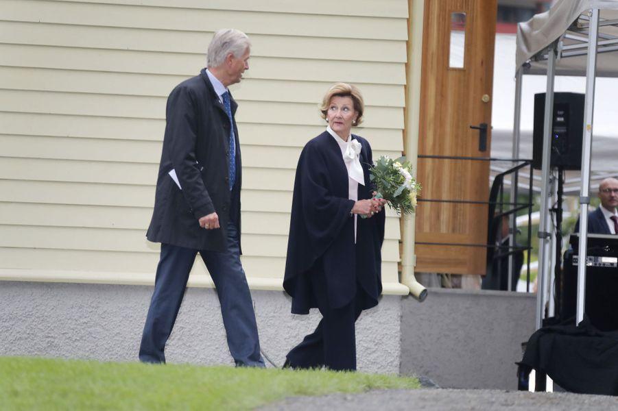 La reine Sonja de Norvège à Lillehammer, le 27 août 2018