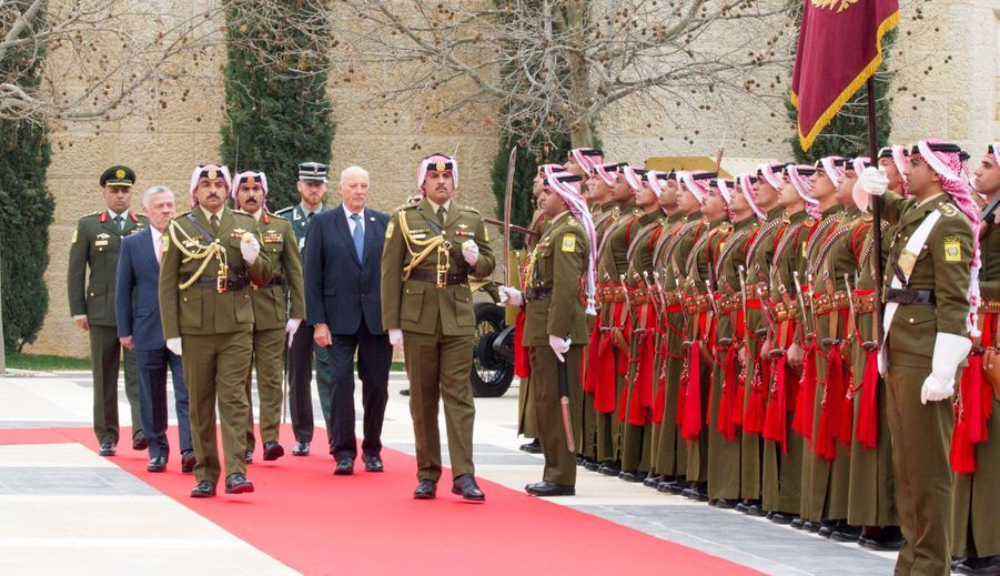 Le roi Harald V de Norvège avec le roi Abdallah II de Jordanie à Amman, le 2 mars 2020