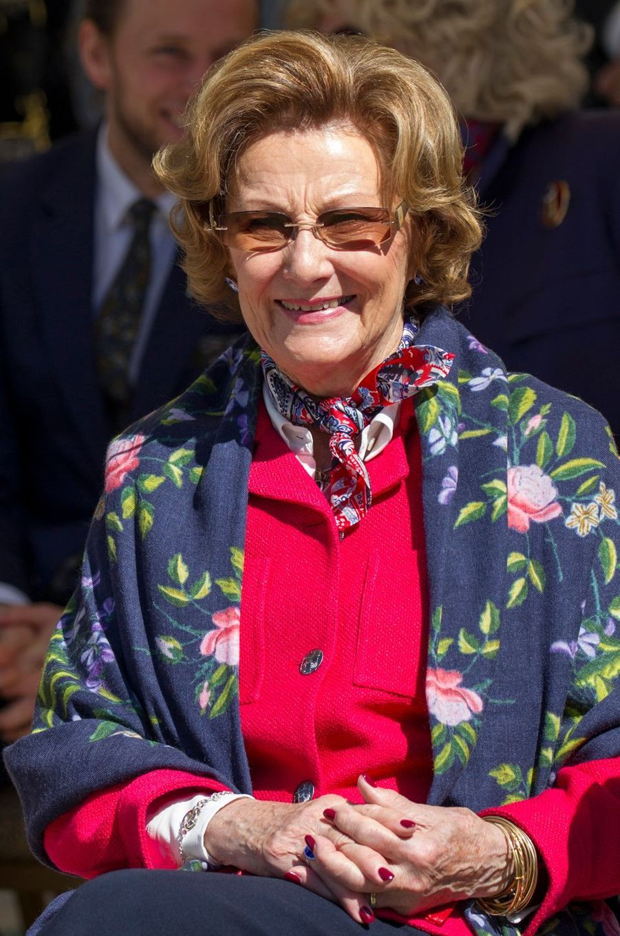 La reine Sonja de Norvège en Jordanie, le 3 mars 2020