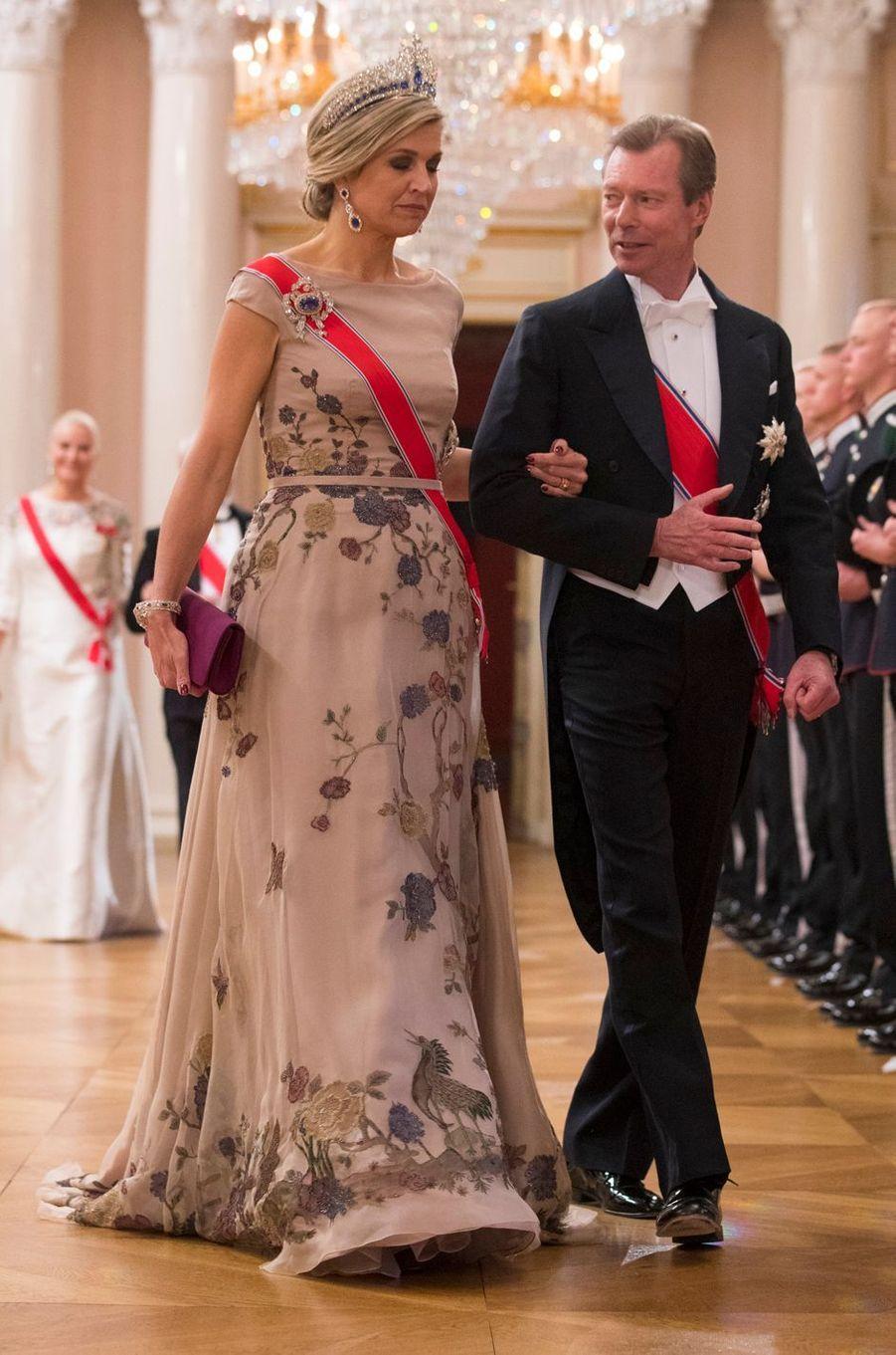 La reine Maxima des Pays-Bas et le grand-duc Henri de Luxembourg à Oslo, le 9 mai 2017