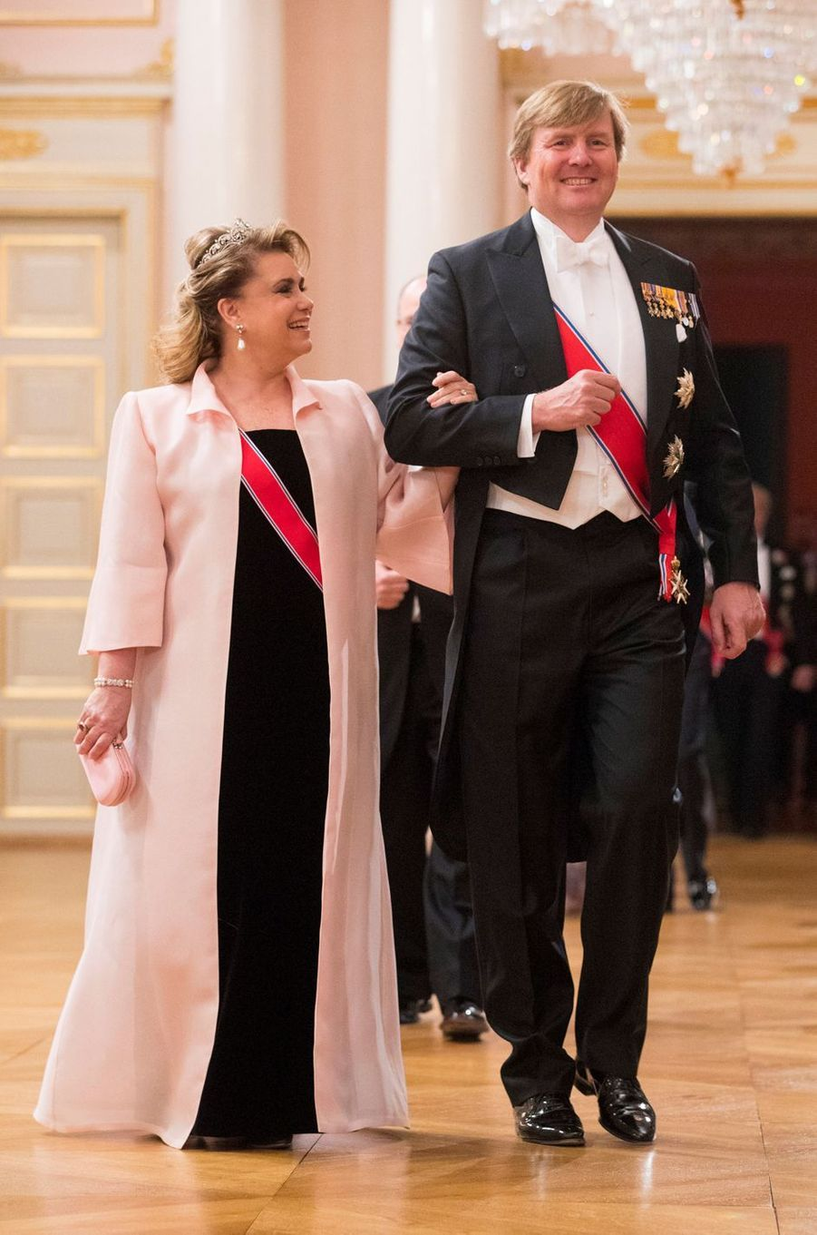 La grande-duchesse Maria Teresa de Luxembourg et le roi Willem-Alexander des Pays-Bas à Oslo, le 9 mai 2017