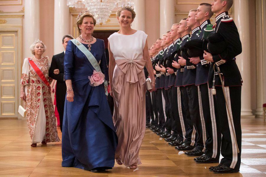 L'ex-reine consort Anne-Marie de Grèce et la princesse Mabel des Pays-Bas à Oslo, le 9 mai 2017